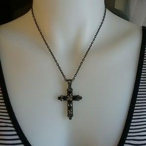 Jeweled Cross Necklace $1 Bundled